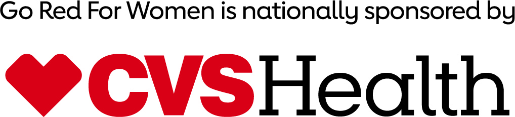 Go Red for Women is Nationally Sponsored by C V S Health Logo